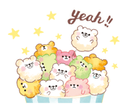 Popcorn Bear friends sticker #11104870