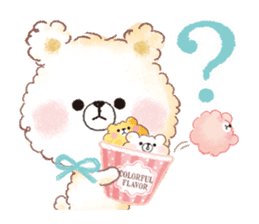 Popcorn Bear friends sticker #11104871