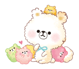 Popcorn Bear friends sticker #11104879