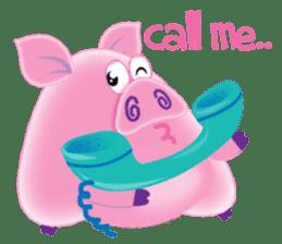 Another Fat and Cute Piku-Pig sticker #11106574
