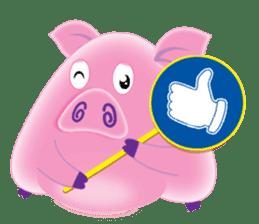 Another Fat and Cute Piku-Pig sticker #11106595