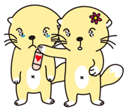 Q Bao sea otter sticker #11112414