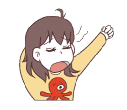 The girl who likes octopuses. sticker #11121158