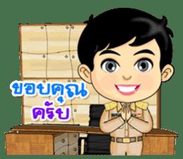 Num Fon & Kon Mek are Thai Officers sticker #11122053