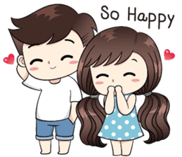 Boobib Cute Couple sticker #11124618