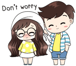 Boobib Cute Couple sticker #11124636