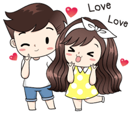 Boobib Cute Couple sticker #11124637