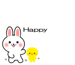 Balloon Rabbit! [English] sticker #11130296
