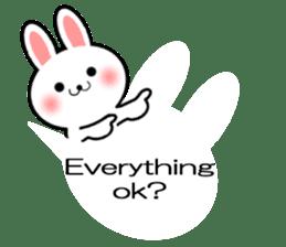 Balloon Rabbit! [English] sticker #11130305