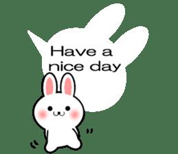 Balloon Rabbit! [English] sticker #11130309