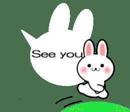 Balloon Rabbit! [English] sticker #11130310