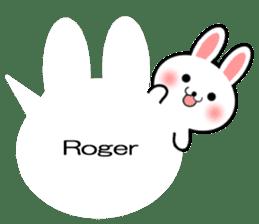 Balloon Rabbit! [English] sticker #11130311