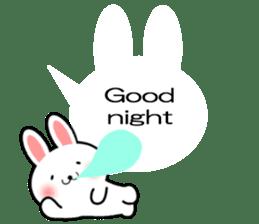 Balloon Rabbit! [English] sticker #11130314