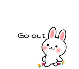 Balloon Rabbit! [English] sticker #11130316