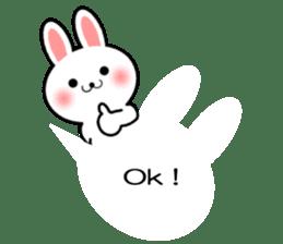 Balloon Rabbit! [English] sticker #11130317