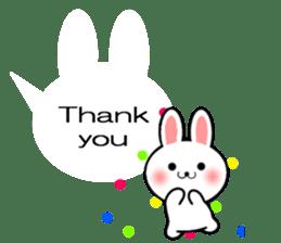 Balloon Rabbit! [English] sticker #11130328