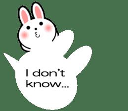 Balloon Rabbit! [English] sticker #11130329
