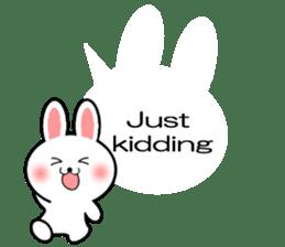 Balloon Rabbit! [English] sticker #11130332