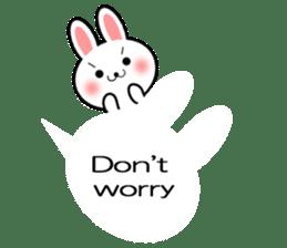 Balloon Rabbit! [English] sticker #11130333
