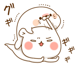 Vulgar bear VS Stinging tongue seal3.4 sticker #11132096