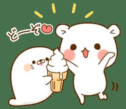 Vulgar bear VS Stinging tongue seal3.4 sticker #11132099