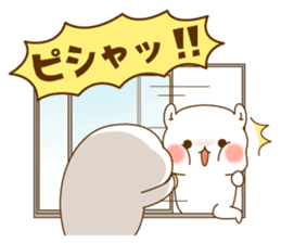 Vulgar bear VS Stinging tongue seal3.4 sticker #11132119