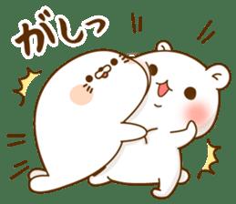 Vulgar bear VS Stinging tongue seal3.4 sticker #11132129