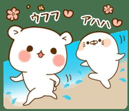 Vulgar bear VS Stinging tongue seal3.4 sticker #11132131