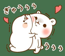 Vulgar bear VS Stinging tongue seal3.4 sticker #11132134