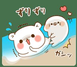 Vulgar bear VS Stinging tongue seal3.4 sticker #11132135
