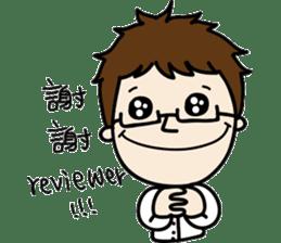 Professor's daily life sticker #11137089