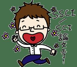 Professor's daily life sticker #11137096