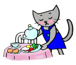 Nekokun househusband a day-to-day sticker #11138026