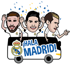 Official Real Madrid Sticker Pack