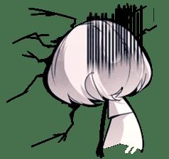 Girl and Skull sticker #11148365