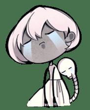 Girl and Skull sticker #11148370