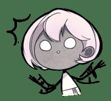 Girl and Skull sticker #11148378
