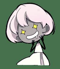 Girl and Skull sticker #11148381