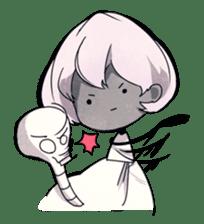 Girl and Skull sticker #11148388
