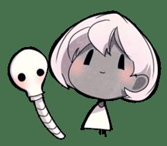 Girl and Skull sticker #11148389