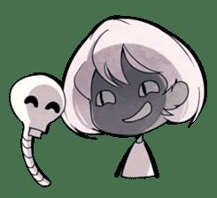 Girl and Skull sticker #11148396