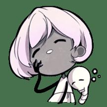 Girl and Skull sticker #11148399