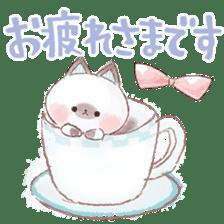 melty cat sticker #11164535