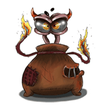 ANGRY BAG MONSTER sticker #11170634