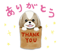 Shih Tzu communication sticker sticker #11174450