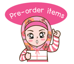 Hijab Girl Online Shop. Eng sticker #11183119