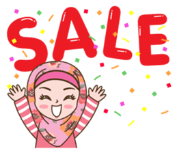 Hijab Girl Online Shop. Eng sticker #11183122