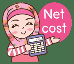 Hijab Girl Online Shop. Eng sticker #11183125