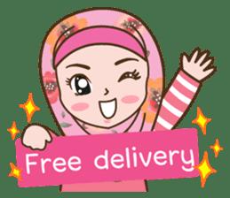 Hijab Girl Online Shop. Eng sticker #11183126