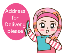 Hijab Girl Online Shop. Eng sticker #11183129